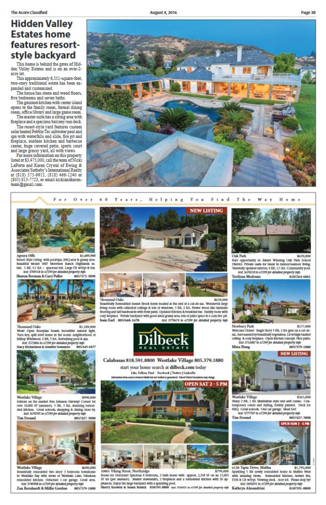 The Acorn Classified featuring 1045 Cheshire Hills Court