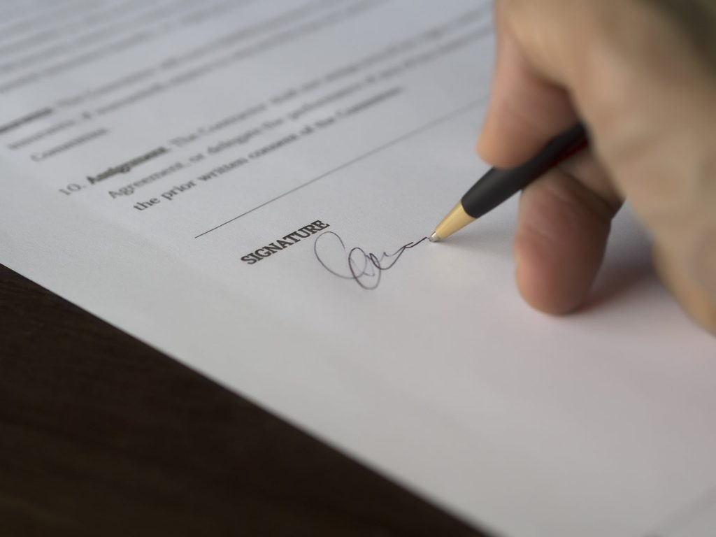 Signing for Escrow