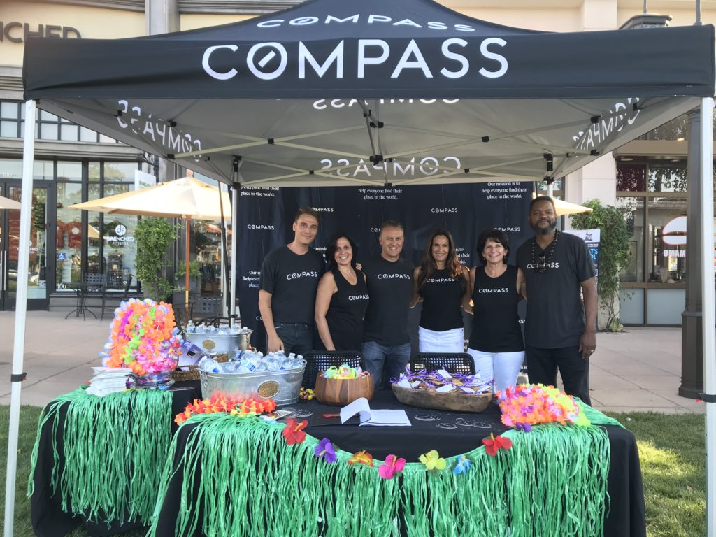 The Nicki & Karen Compass Real Estate team at The Lakes Movie night on the Lawn in Thousand Oaks