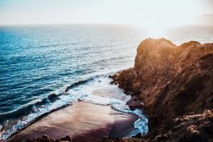 Malibu Beach Rock Formation