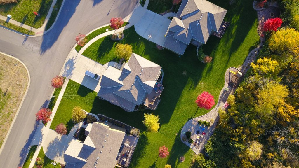 Aerial view of Conejo Valley homes