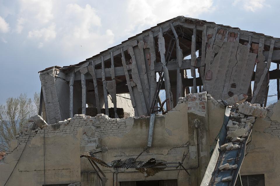 Home damage after quake