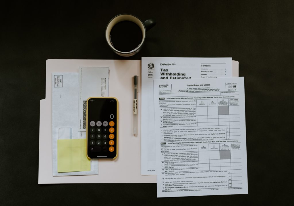 taxes paperwork documents