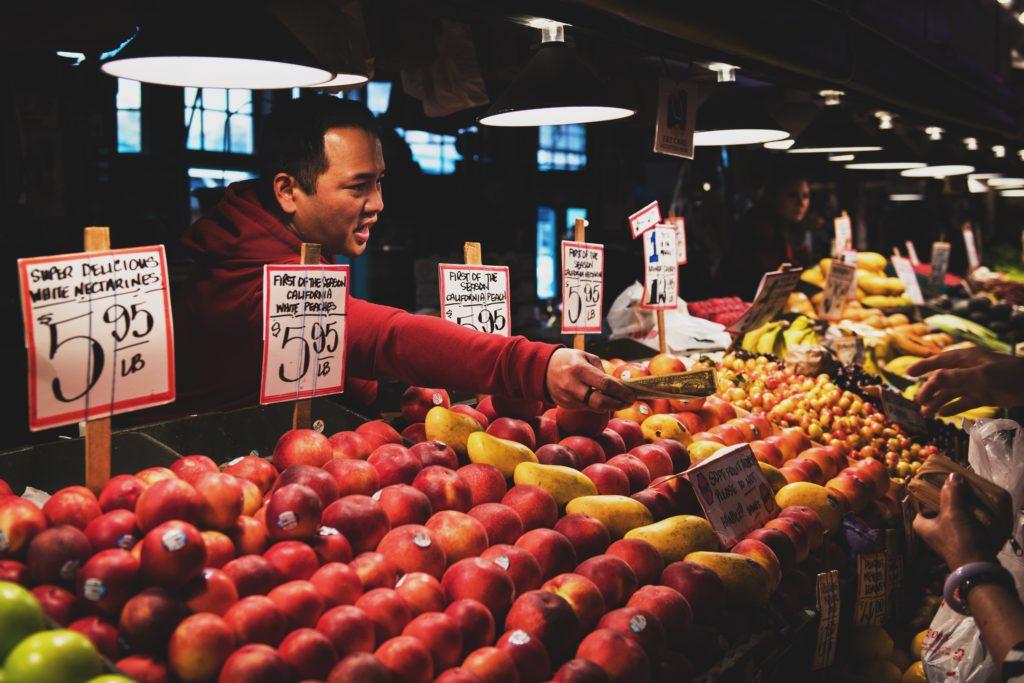 man vendor fruit