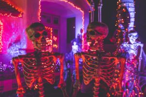 haunted house skeletons