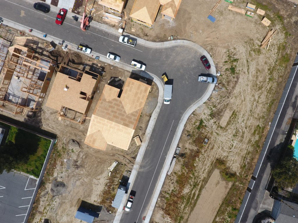 aerial view of vehicles on road during daytime
