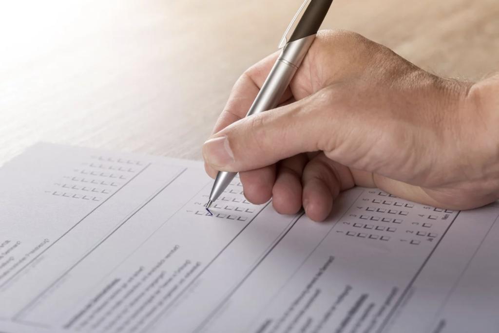 checkmarks paperwork