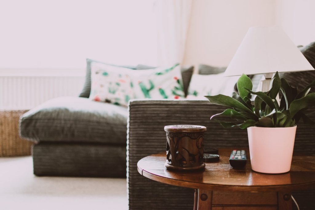 interior home couch mug table