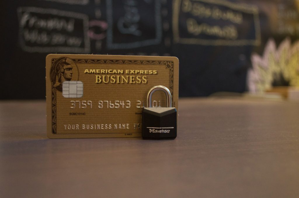 american express card with lock