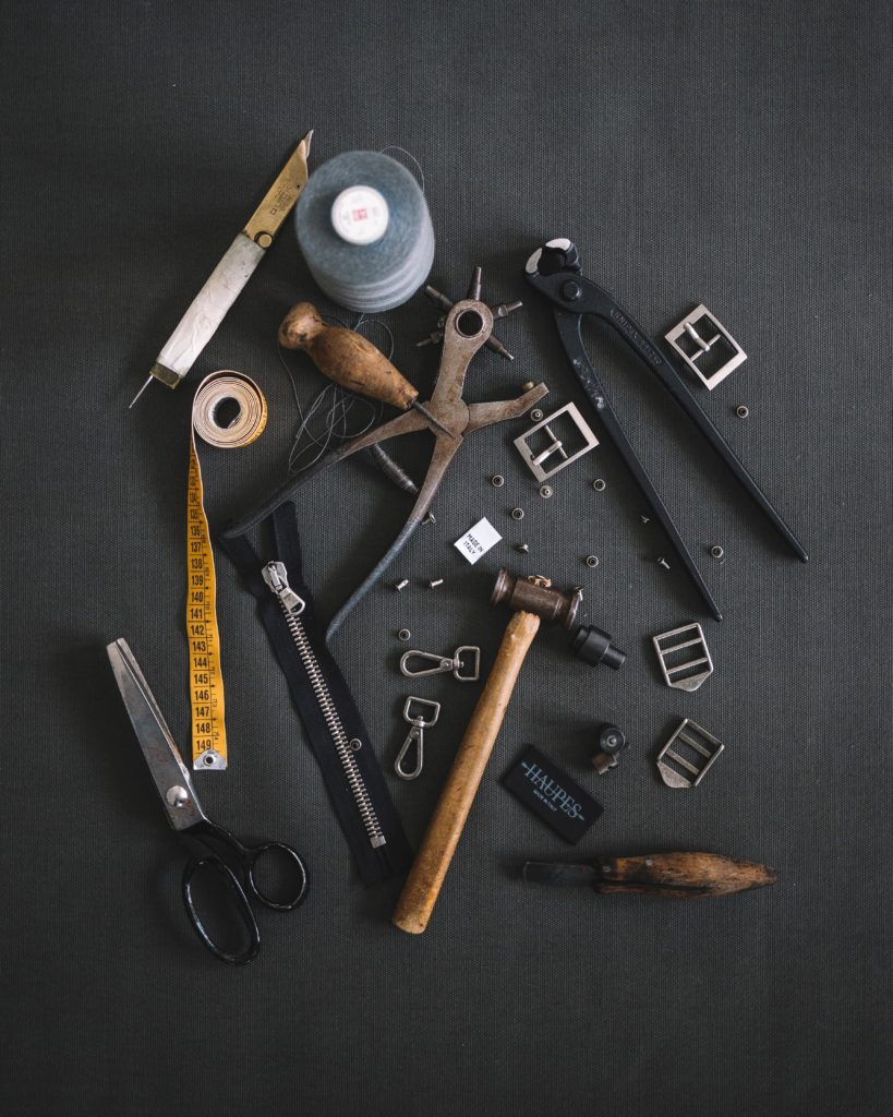 multiple tools on a table