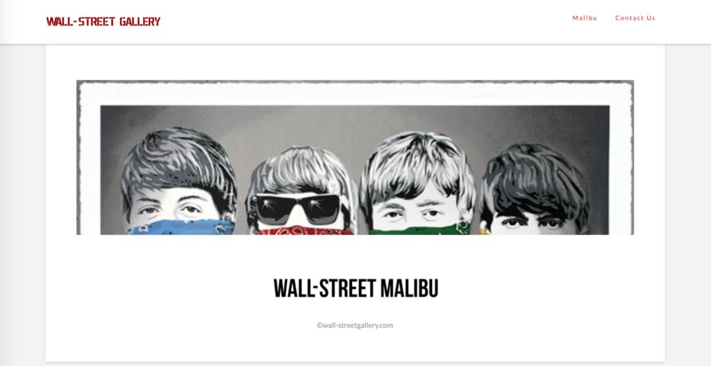 Wall-Street Gallery website homepage