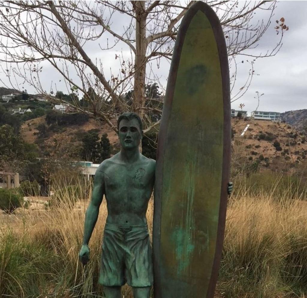 Unknown Surfer: Bronze, Jody Westheimer, 2011, dedicated to Surfrider Beach.