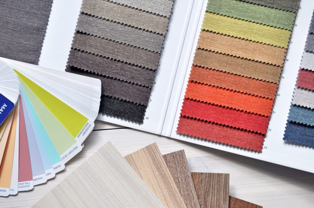 color palette with gradients for home design