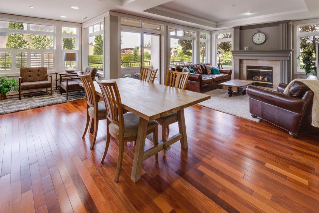 luxury home with hardwood floors