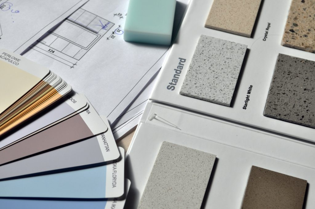 interior design color and material samples