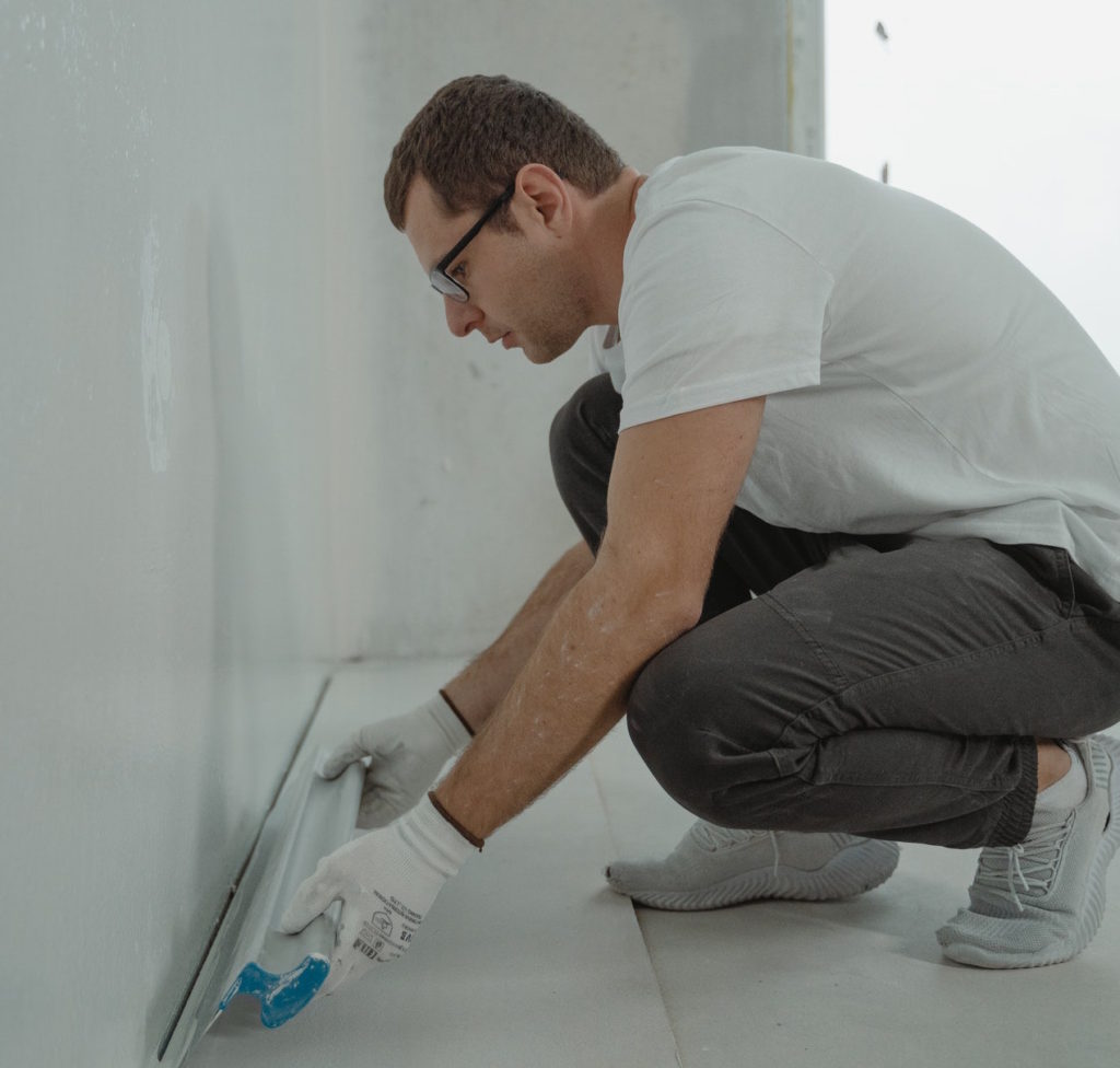 installing trim and flooring