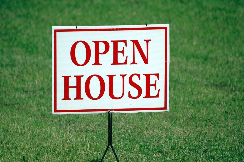 hosting an open house