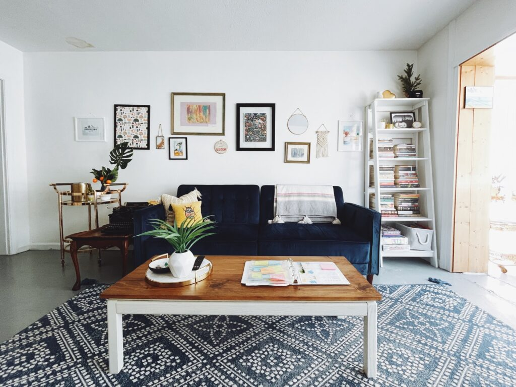 room in home with nice living room decor